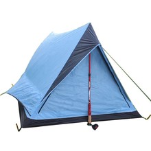 Portable triangle ultralight camping tent for 2 persons