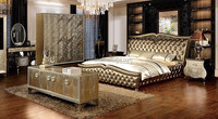 2015 hot selling luxury king size leather bedroom bed YC030