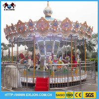 [manufacturer]amusement playground outdoor carousel rocking horse