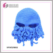 2015 Latest Multicolor Cold-proof Funny Keep Warming Wool Octopus Ski Hat