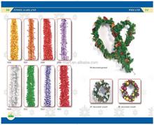 Fantastic Glitter Tinsel Garland Wreaths Garland Christmas Tree Decoration