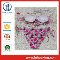 2015 Miss holland sexy beach girls padded fringe indian beach bikini