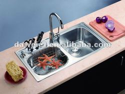 CK229 Stainless Steel Double bowls franke kitchen sinks