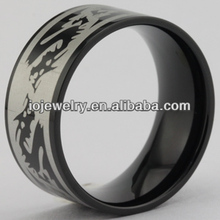 Hand made man ring with embossed dragon
