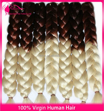 Popular Ombre African Hair Braiding Exptension Kanekalon Jumbo Braid- Hair Extensions