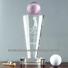 golf trofeo de cristal chino