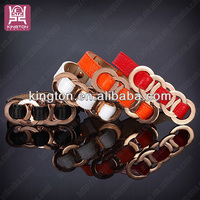 hot sale new latest different color spanish leather bracelets