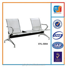 2-seater airport/public/hospital waiting chair with table