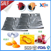 high quality 22L 220L liquid eggs packing bag in box for peanut oil with Valve OEM