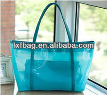 2014 new arrival trendy plastic clear pvc beach bag