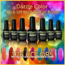 No077 HIGH QUALITY DAZZLE COLOR UV/LED NAIL GEL POLISH SKY BLUE