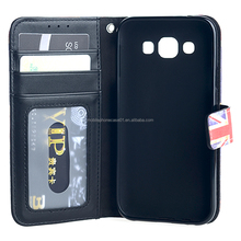 Mobile Phone PU Leather Wallet TPU Case for Samsung Galaxy E5