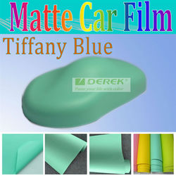 Promotional tiffany blue matte sticker decal design for car and motorcycle with air drains