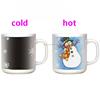 Snowman Mug 11oz Winter Color Changing Sublimation Mug With Snowflakes Printing