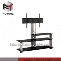 Modern shelves glass motor for tv stand living room furniture
