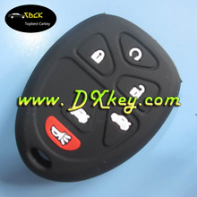 New Style 5+1 button car key case , silicone car key cover for GM remote case