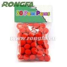 "25mm Darice 1"" red acrylic craft pom poms wholesale"