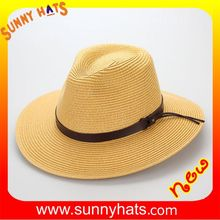 Alibaba China Handmade Wide Brim High Quality Straw Sombrero Hat In Factory