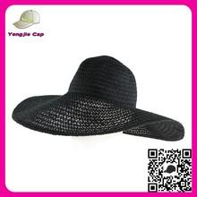 Personalizado Floppy Hat aba larga dobrável verão de praia simples sol como decorar chapéu de palha