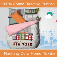 fancy flat sheet cotton cartoon bed sheet dora textile