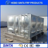 large size square type stainless steel tank subsidiary water tank