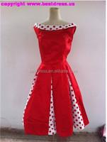 walson instyles wholesale hot sale rockabily dress Vintage Drancing Swing Rockabilly Dress Skirt Ball Gown