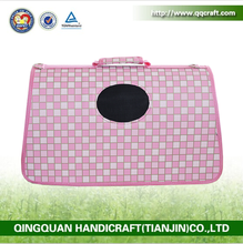 BSCI QQ Petbed Factory pet carrier travel bag pink pet carrier for the car