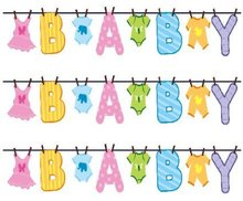 Hot sales custom baby shower letter banner