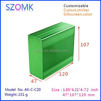 2015 high quality 47*107*120mm custom extruded aluminum electrical boxes