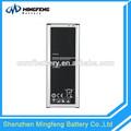 china fábrica de galáxias note4 bateria para celular samsung
