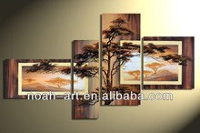2015 handmade oil painting art trees for wall decoration