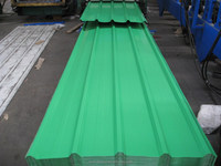 840MM corrugated green color steel sheets/panels for wall and roof