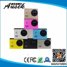 H.264 Multi-language Waterproof 30 Meter Camera Underwater With Unique Colorful Waterproof Case