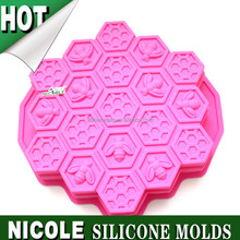 B0211 big hive Nicole food grade chocolate cake making handmade pudding jelly oven baking tools silicone cake molds factory