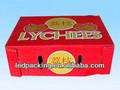 couleur rouge boîtes en carton ondulé pour les cerises