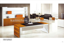 2015 TOP solid wood modern design high quality custom made wooden veneer finished executive table design