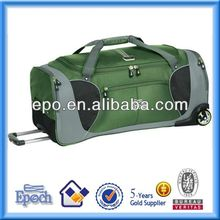 Durable polyester travel trolley duffle bag