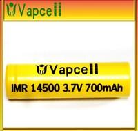 Hot seller li-ion 14500 700mah 3.7v battery/li-ion battery 14500 icr 14500 3.7v 700mah rechargeable li-ion battery / li-ion
