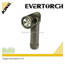 2015 Evertorch practical performance right angle design rechargeable R5 bulb light weight type torch
