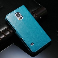 Quality PU leather for Samsung Galaxy S5 I9600 shenzhen mobile phone accessories of phone bag waterproof shockproof