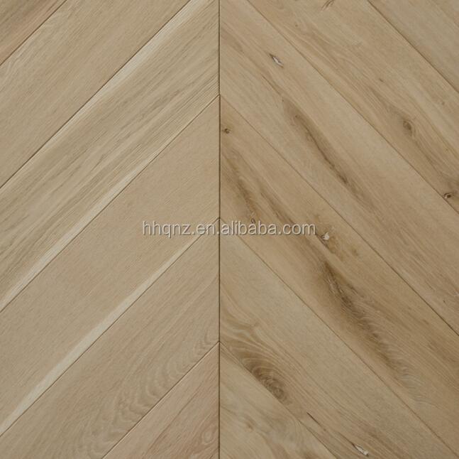 Chevron Unfinished Reclaimed Oak Engineered Wood Flooring