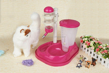 Dog Cat Pet Automatic Food Feeder and Water Drinking Fountain