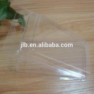 Emballage double coque en plastique cristal, clapet double emballage de boîte