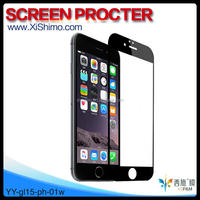 Factory direct supply 0.15mm 180 degree waterproof anti-fingerprint tempered glass screen protector for iphone 6