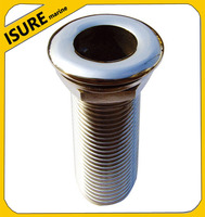 """Stainless Steel Sea Drains plug with hose connection 1-1/2"""" for Boat/Yacht/Ship"""