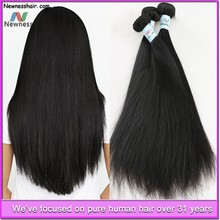 High quality 100% raw unprocessed 1b dark and brown color virgin brazilian haircuts for fine thin straight hair