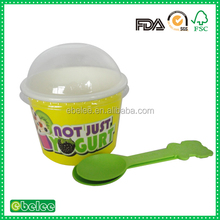 custom logo printed frozen yogurt cup wholesale china