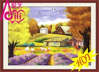 YIWU KAINA GOLDEN VILLAGE SCENERY PAINTING HOME DECOR DIAMOND OIL PAINTING