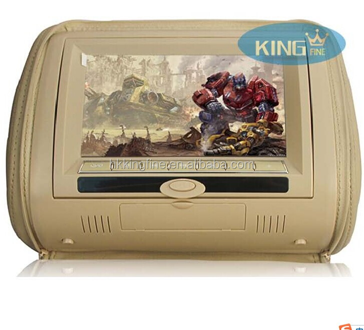 7 inch Detachable digital panel Headrest dvd player with 32 bit games/IR/wireless headphone