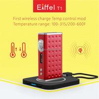 Black wireless charging box mod ESIGE Eiffel T1 best mod vapor 165W for Sub tank